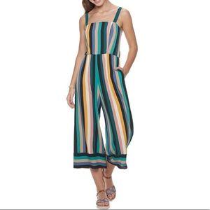 Speechless   Striped Crop Jumpsuit Adjustable XL